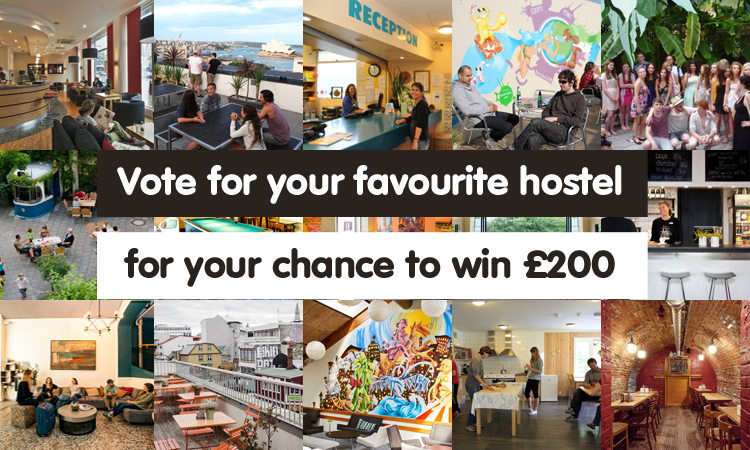 Vote for your favourite hostel for the chance to win £200