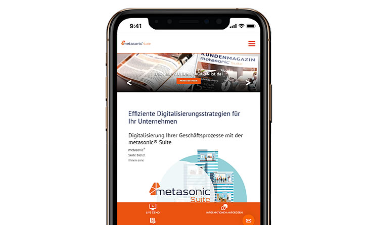 Prestashop eCommerce website iPhone version