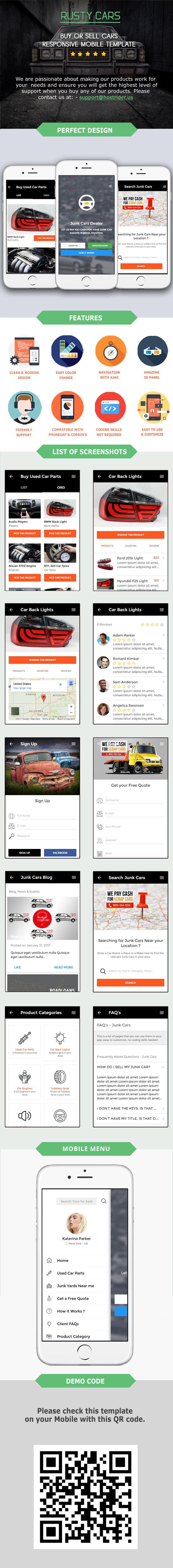Rusty Car Automotive Mobile Template