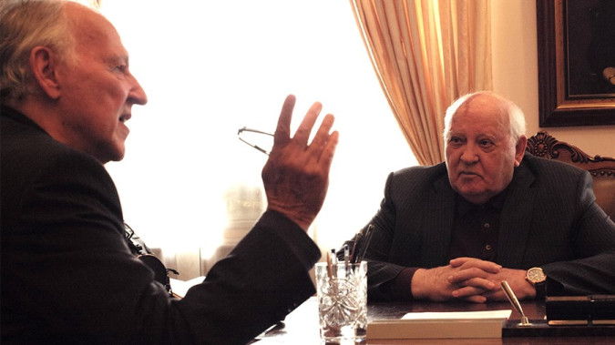 Still from Meeting Gorbachev