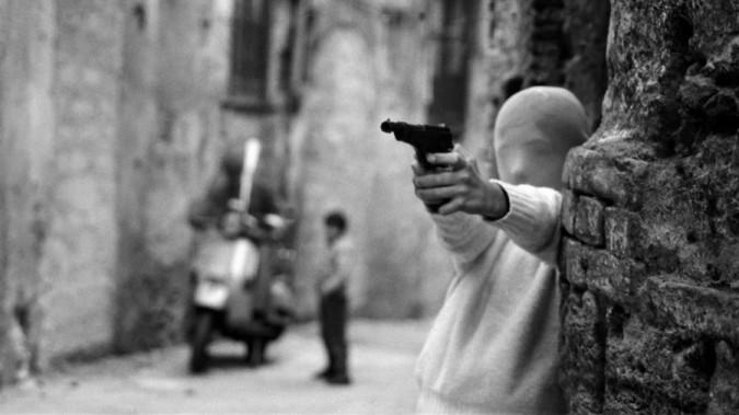 Still from Shooting the Mafia