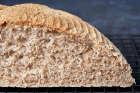 A 50% white spelt, 50% wholemeal spelt loaf