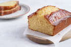 Lemon drizzle loaf cake made with medium eggs