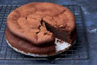 Nigella's Chocolate Amaretto Cake in an 18cm tin