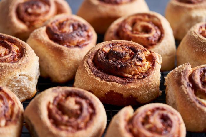 Cheddar and Marmite sourdough rolls made using a Panasonic bread maker