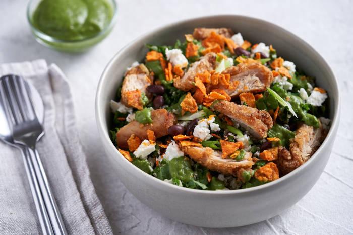 Chopt Warm Grain Chicken Salad with Mexican Green Goddess Dressing