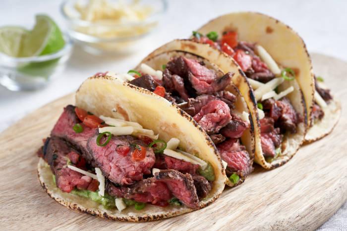 Instant Pot Sous Vide Bavette Steak in Tacos