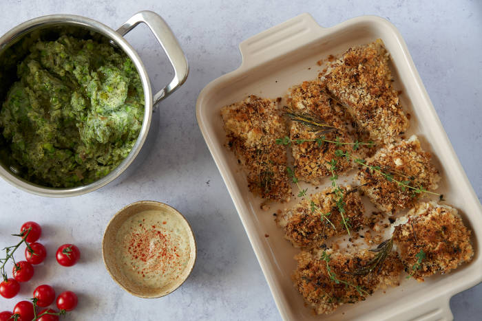 Jamie Oliver S 30 Minute Meals Tasty Crusted Cod Recipe