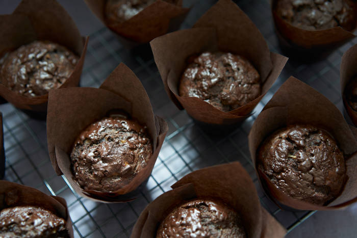 Lovely, chocolatey muffins with a longer shelf life thanks to the addition of bananas
