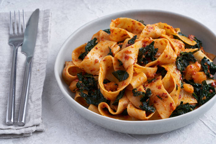 Nigella's Pappardelle with Cavolo Nero and 'Nduja