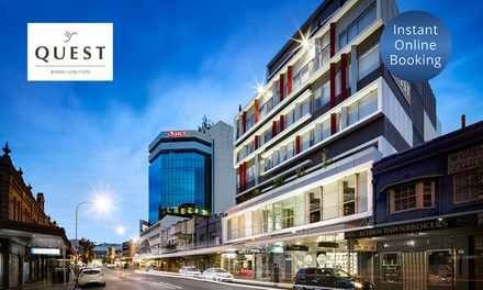 Sydney: 1- or 2-Night Beach Escape for Two People with Late Check-Out at Quest Serviced Apartments Bondi Junction