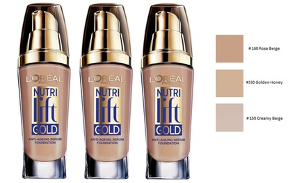$17.95 for Three L'Oréal Paris Nutri Lift Gold Anti-Ageing Serum Foundations (Don't Pay $119.85)