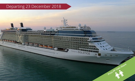 New Zealand: From $2,569 Per Person for a 12-Night Celebrity Solstice Cruise with Meals, Departing Sydney on 23 Dec 2018