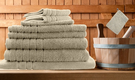 $39 for an Egyptian Cotton Bath Sheet Six-Piece Set, or $45 for an Egyptian Cotton Bath Sheet Eight-Piece Set