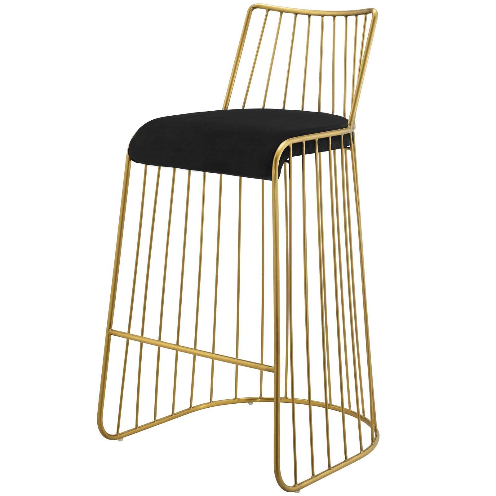 Pleasing Details About Modern Deco Lounge Stainless Pub Bar Stool Chair Velvet Gold Black 15382 Unemploymentrelief Wooden Chair Designs For Living Room Unemploymentrelieforg