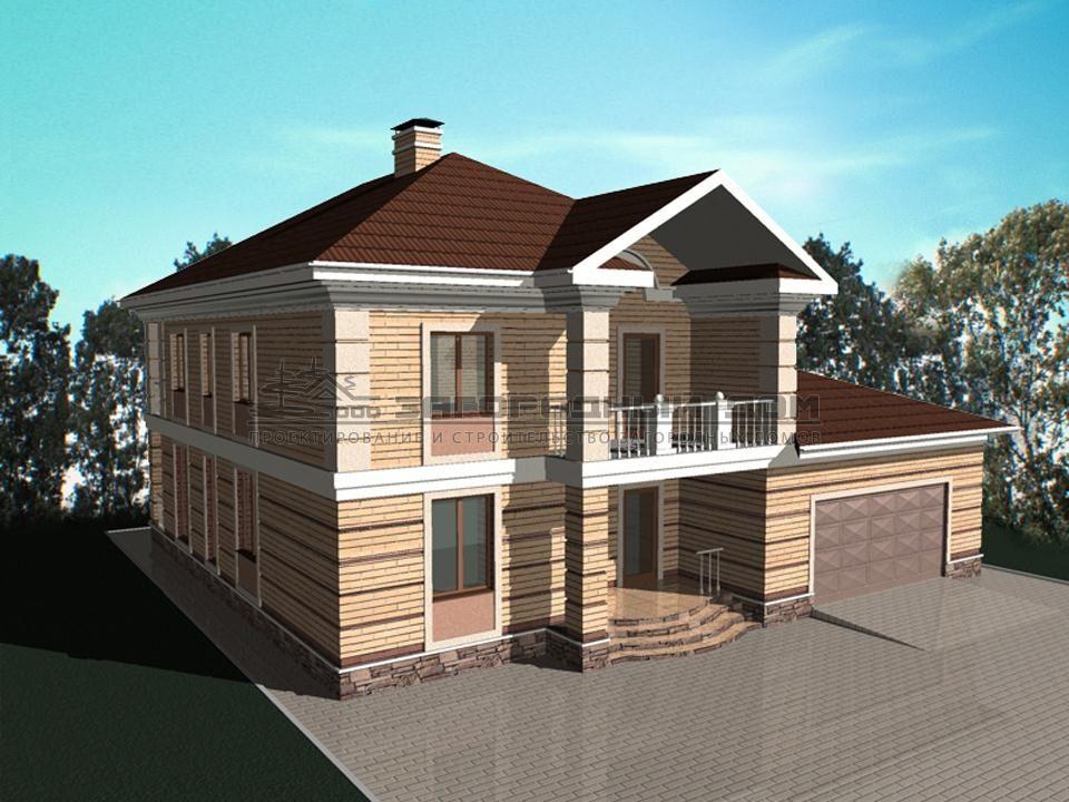 Кирпичные дома с балконом фото..