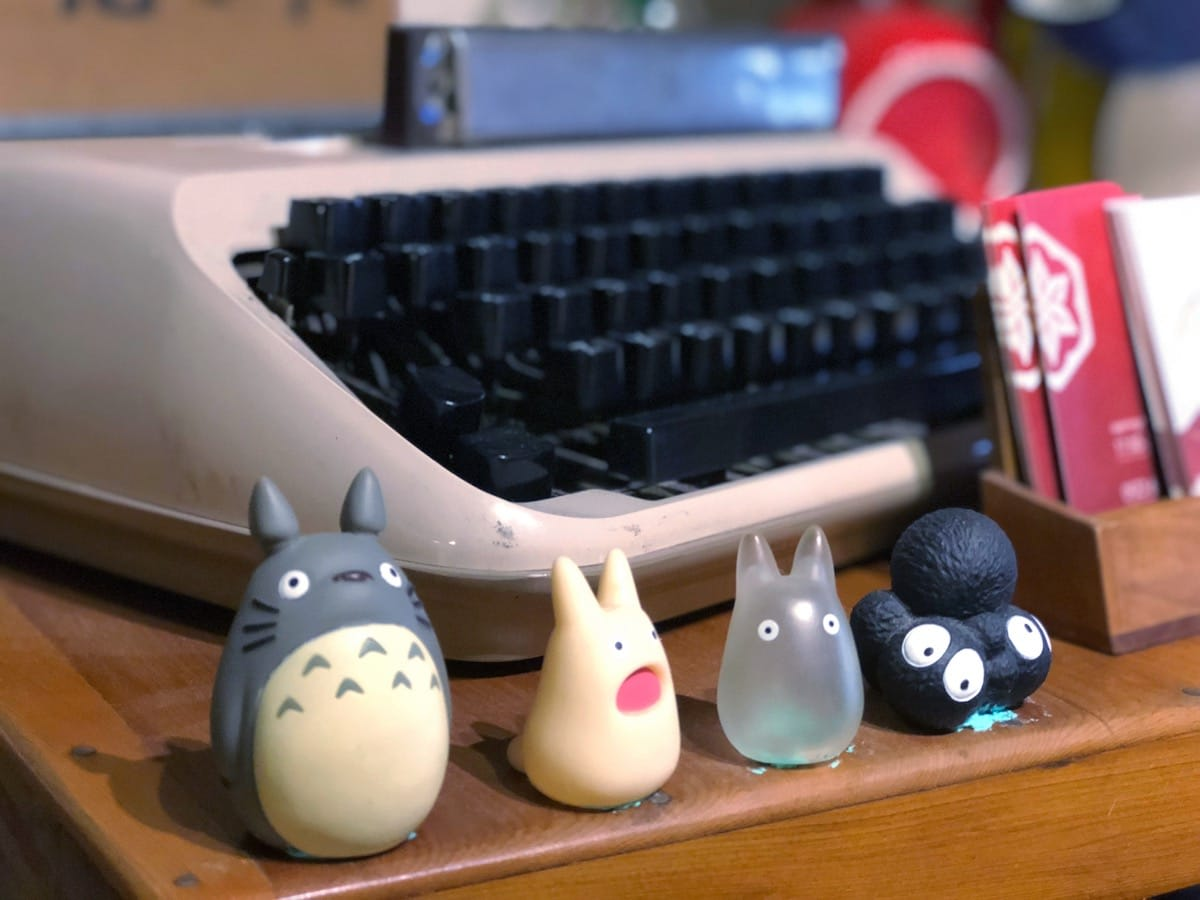 難得一見的打字機在店內也可以見到