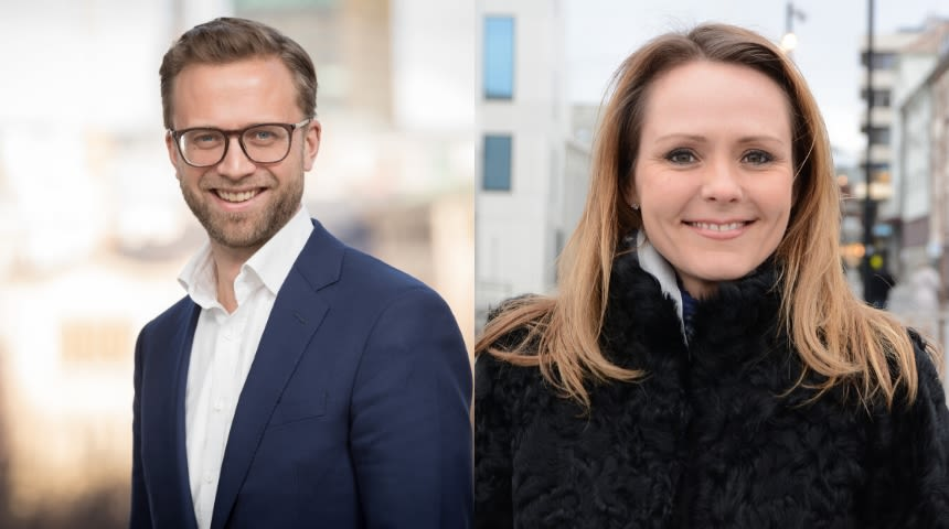 Nikolai Astrup og Linda Hofstad Helleland