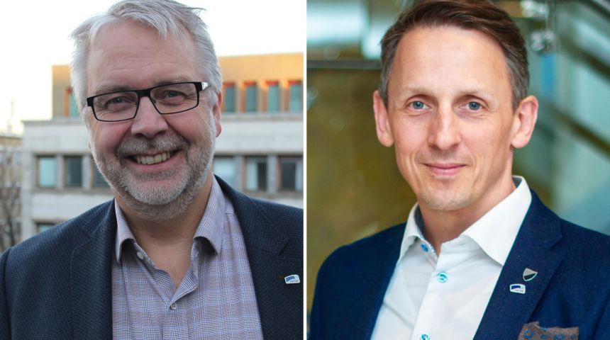 Portrettbilder av Pål Sæther Eiden og Tom Myrvold
