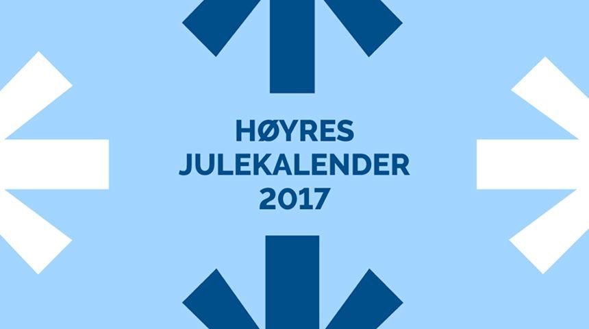 Høyres julekalender 2017.