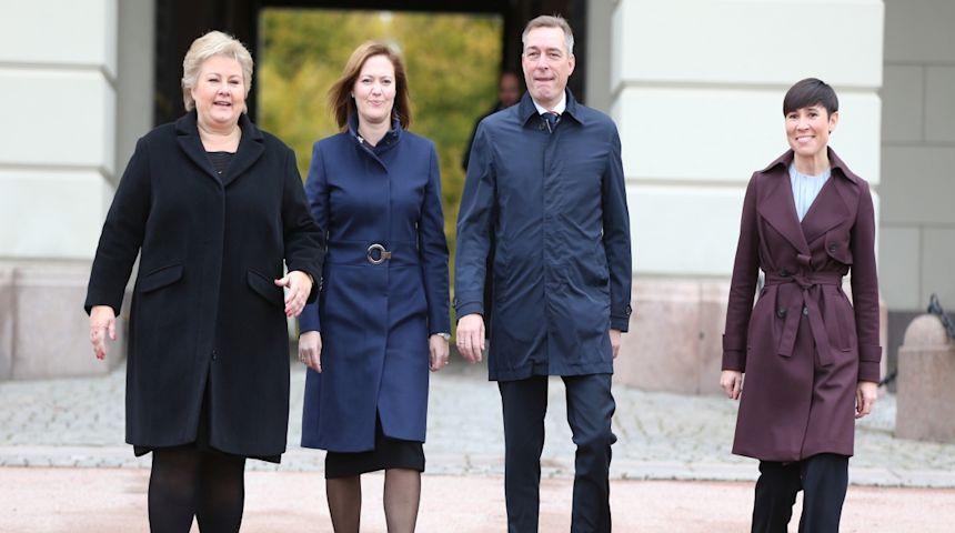 Ine Eriksen Søreide ble fredag Norges første kvinnelige utenriksminister. Foto: NTB scanpix, Ørn Borgen