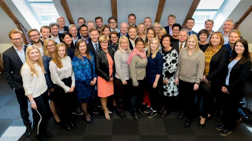 Dette er gjengen som skal representere Høyre på Stortinget de neste fire årene. Foto: Hans Kristian Thorbjørnsen