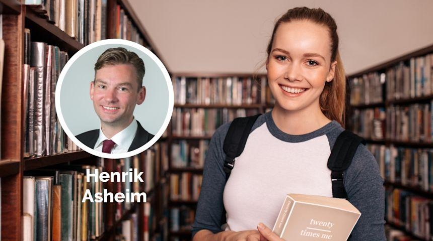 Kunnskapsminister Henrik Asheim. Foto: Hans Kristian Thorbjørnsen.
