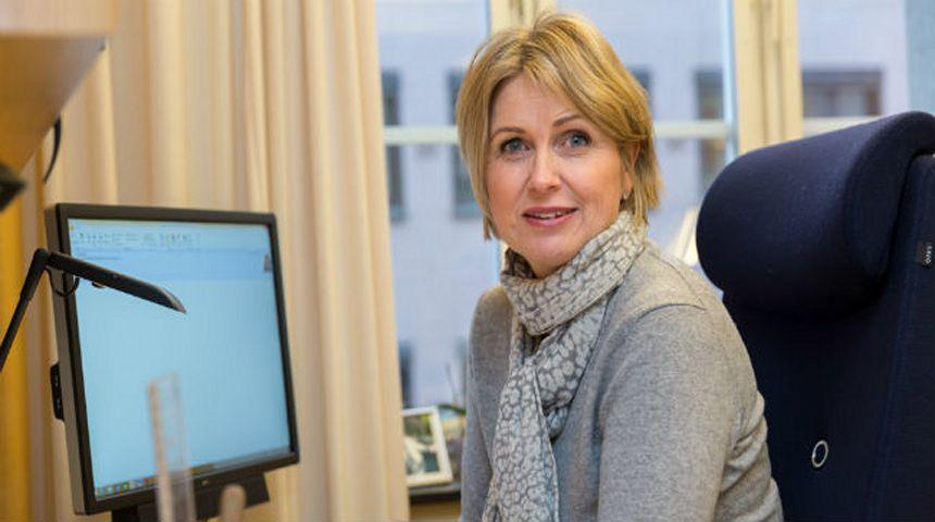 Kristin Vinje er godt fornøyd med historisk satsing  på studentboliger. Foto: Hans Kristian Thorbjørnsen