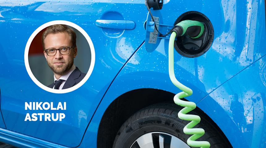 - Annenhver nye bil i Norge er allerede lav- eller nullutslippsbiler, sier Nikolai Astrup i Høyre.