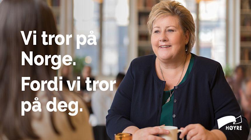 Vi tror på Norge. Foto: Hans Kristian Thorbjørnsen