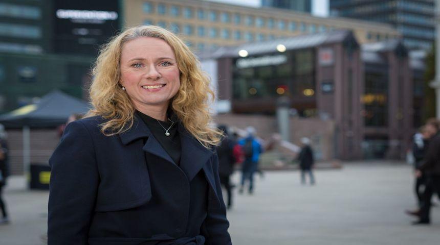 Arbeids- og sosialminister Anniken Hauglie. Foto: Hans-Kristian Thorbjørnsen