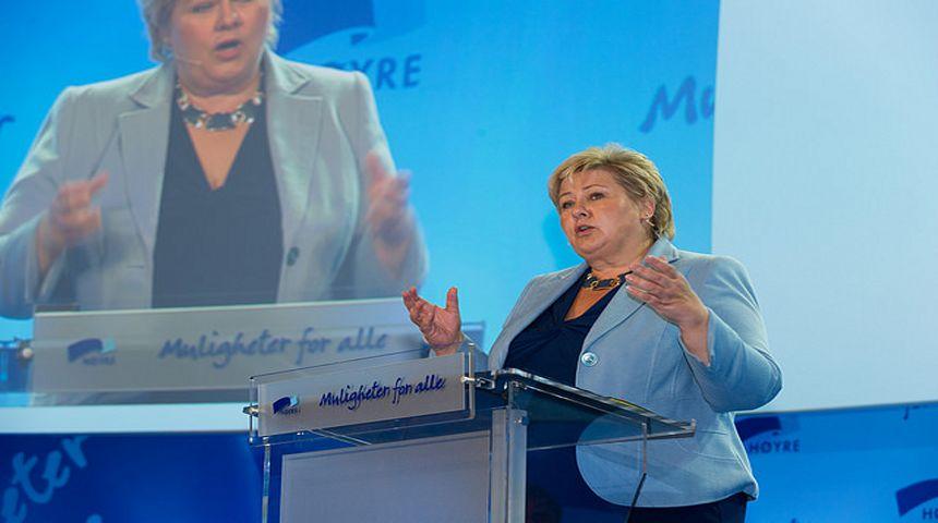 Foto: Høyre - Erna Solberg og regjeringen vil etablere en ny trygghetsstandard for sykehjem