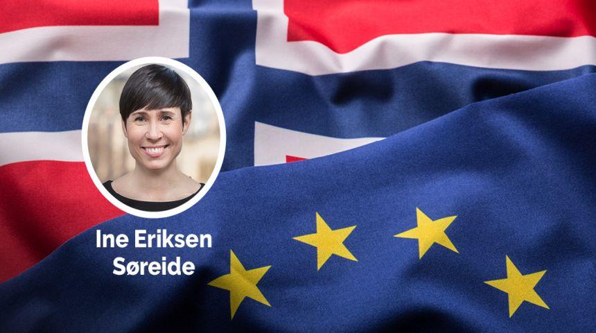 –Selv om Norge ikke er medlem av EU, skal vi være aktive deltakere