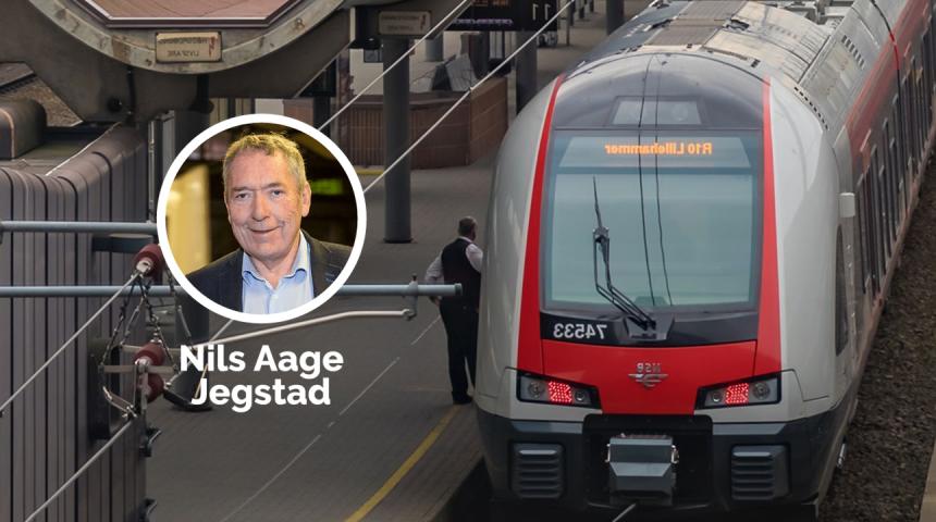 Jernbanepolitisk talsperson for Høyre på Stortinget, Nils Aage Jegstad. Foto: Hans Kristian Thorbjørnsen