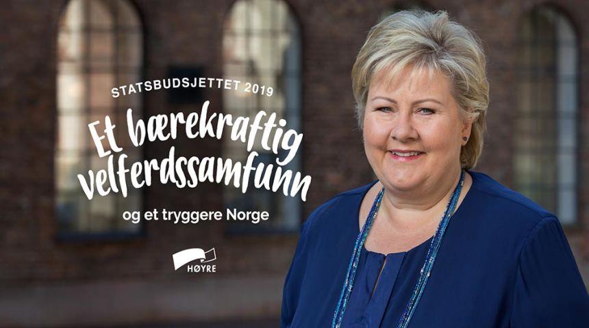 Statsbudsjettet 2019: For et bærekraftig velferdssamfunn og et tryggere Norge