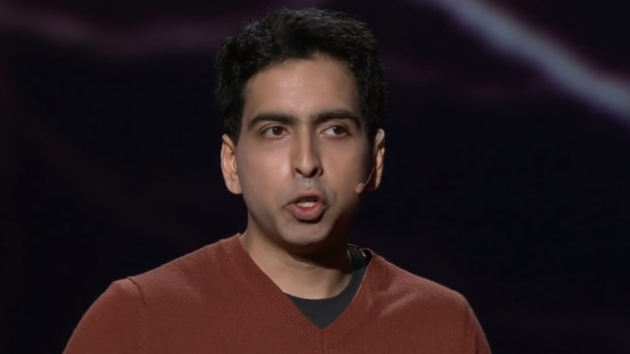 Sal Khan in 2011 on a Ted Conference, talking about education.