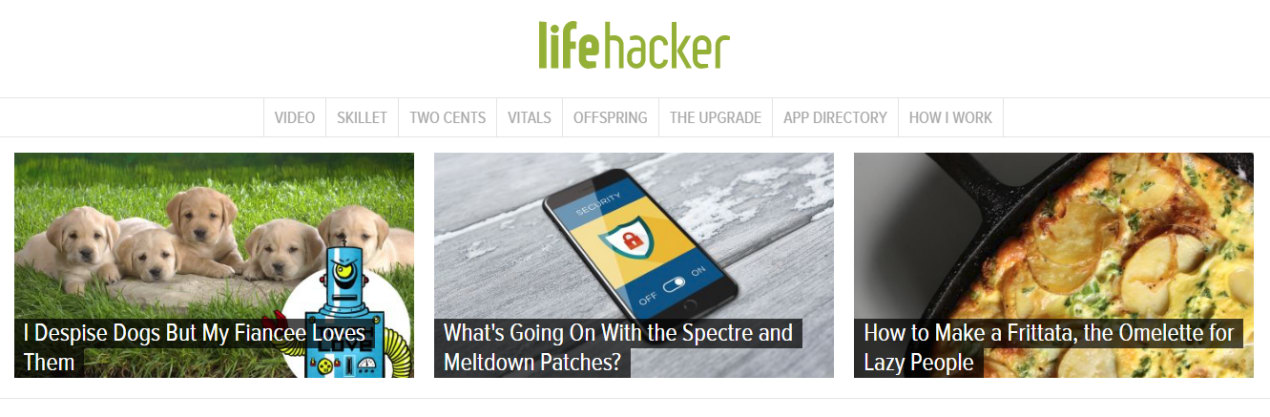 Homepage Lifehacker