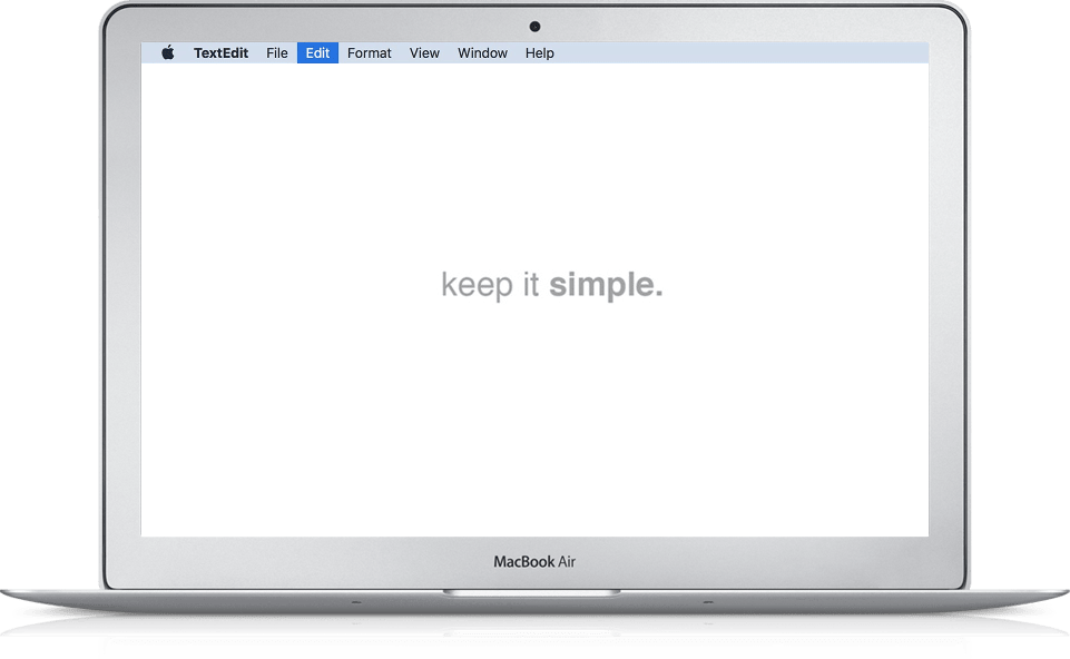A screenshot of the simple desktop used by The Minimalists: Simplify to the max!