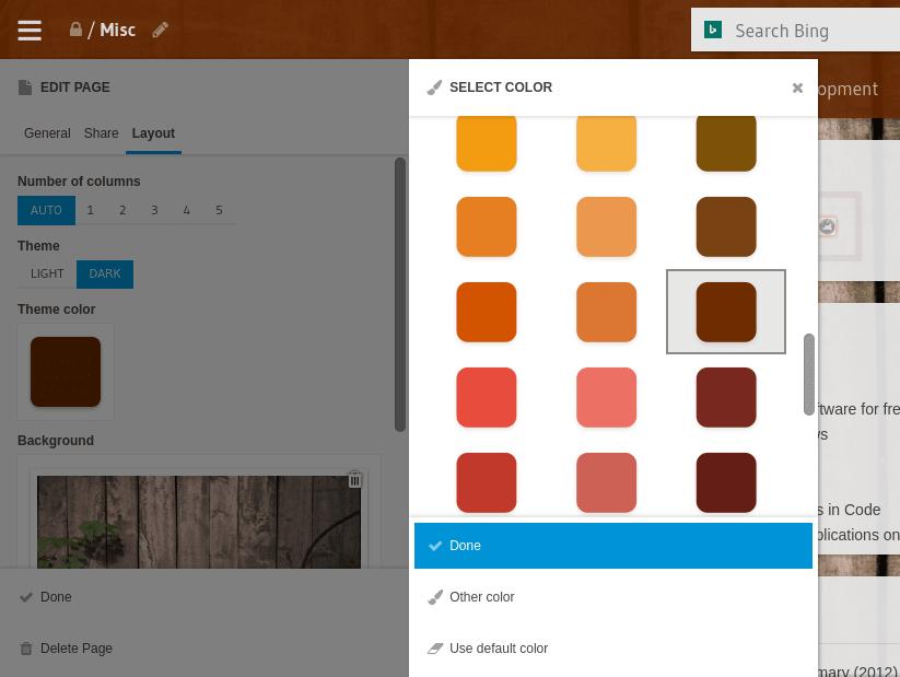 Custom theme colors