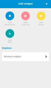 Add any widget you like. Or all!