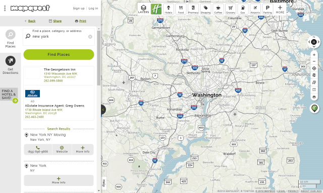 If you travel with Mapquest, you'll discover more than just your destination.