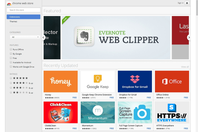 The Chrome web store - more extensions and themes than you could possibly handle.