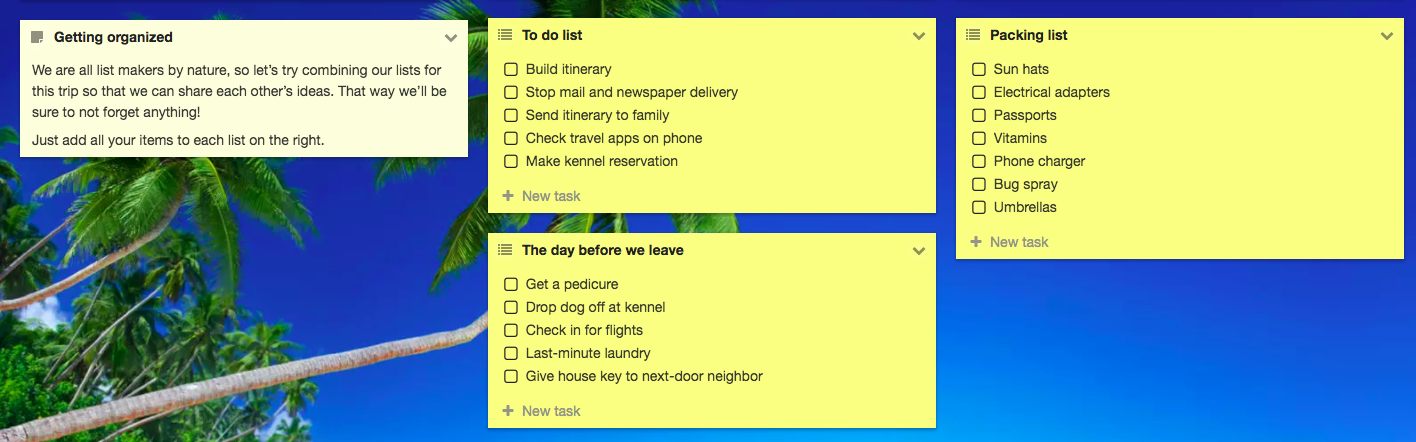 Some to-do-lists might also be handy