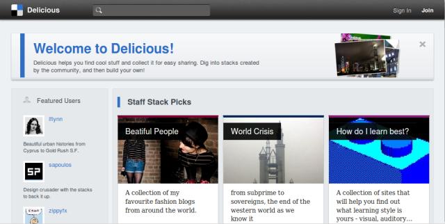 Delicious - bookmarking 1.0