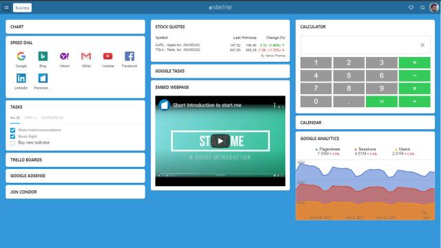 start.me - bookmarking 2.0