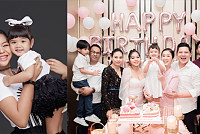 Kong Socheat presents a happy family...