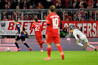 Wrong! Neuer rises too high to miss a...