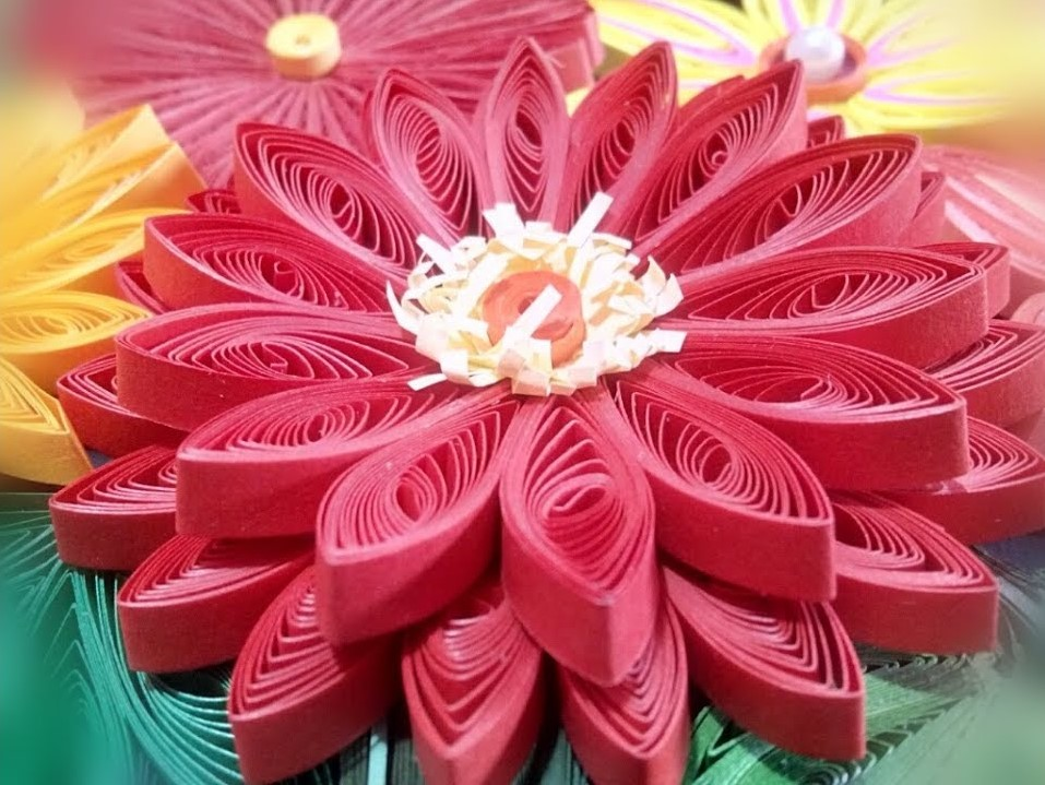 Two Layer 3D Quilling Flower | How to make a Quilling Bouquet part - VIII