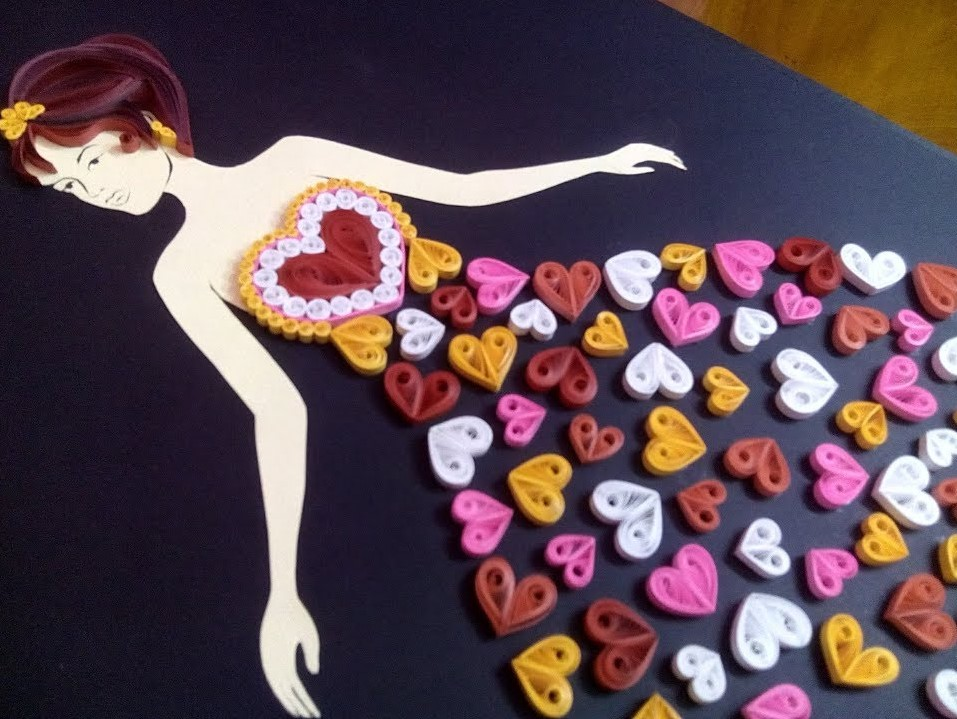 Quilling Girl | How to make a simple Quilling Potrait