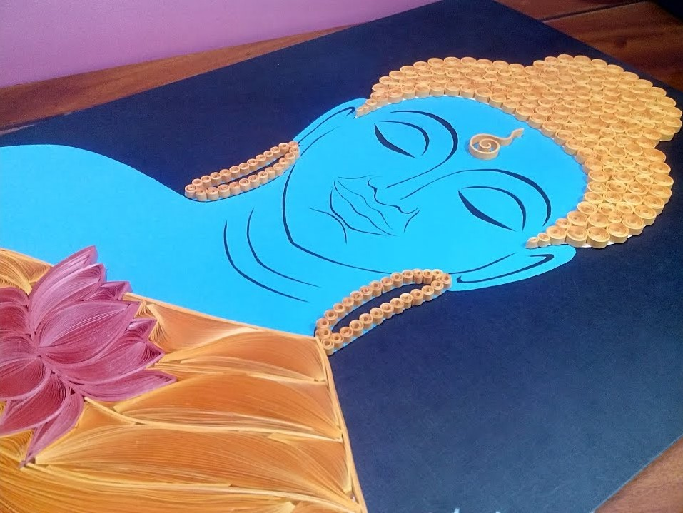 Quilling Buddha | How to make a Quilling Buddha | DIY Quilling Potrait Tutorial